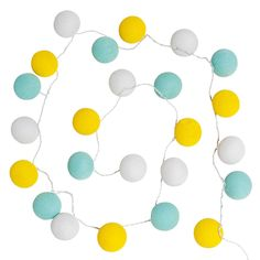 Guirlande lumineuse 24 LED en coton multicolore