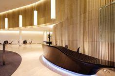 Reception Desk Design, Hotel Reception, Reception Counter, Corporate Interiors, Hotel Interiors, Lobby Interior, Interior Architecture, Hostels, Hotel Lobby Design