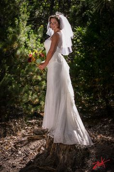 Theresa's forest portrait at Hidden Creek.   Pine Rose Cabins  I  Lake Arrowhead outdoor forest wedding venue  I  Zook Photography