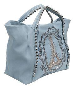 Eiffel tower print tote bag