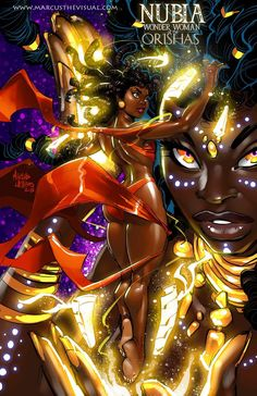 Wonder Women – Marcus The Visual Sexy Black Art, Black Love Art, Black Girl Art, Art Girl, African American Art, African Art, Comic Books Art, Comic Art, African Mythology