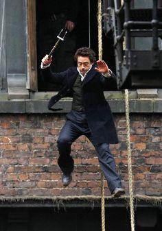 Robert Downey Jr. Photos: Robert Downey Jr. Filming His Own Stunts