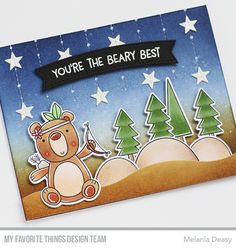 Hi all! I'm back with a card for My Favorite Things June Release Countdown Day 2. I play with cute stamp set called Beary Big Adventure . I...