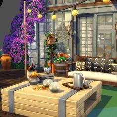 Casas The Sims 4, Construction, Sims House, Outdoor Furniture Sets, Outdoor Decor, Plein Air, Houses, Patio, Home Decor