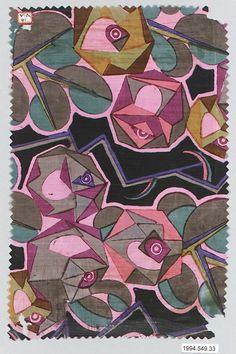 Textile sample, 1910-1928 | Manufacturer: Wiener Werkstätte | Designer: unknown | Material: silk | The Metropolitan Museum of Art, New York