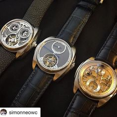REPOST!!!  #Repost @simonneowc with @repostapp ・・・ Beautiful trio from Akrivia, exemplifying excellence and quest for perfection! Thanks @naomibarokas & @rexhep.rexhepi for the privilege to handle them! . . #Deployant #watch #watches #wis #watchesofinstagram #instawatch #montres #urhen #reloj #horology #hautehorlogerie #wotd #watchoftheday #watchnerd #watchgeek #watchfreak #timepiece #watchcollecting #wristcandy #wristgame #timepiece #watchaddict #instagram #watchporn #akrivia #tourbillon…