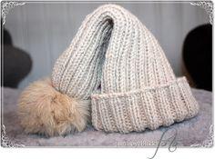 - SmåØyeblikk -: Topplue |oppskrift| Pom Pom Hat, Winter Hats, Crochet Hats, Beanie, Knitting, Crafts, Fashion, Knitting Hats, Moda