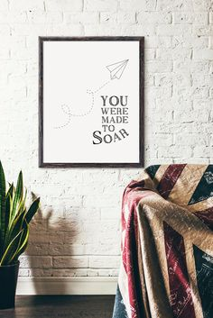 You were made to soar Paper Airplane Art Nursery Decor Art Print Gift Baby Shower Gift Motivational Aviation Decor, Airplane Decor, Airplane Nursery, Airplane Quotes, Paper Airplane Drawing, Paper Airplane Party, Paper Planes, Lds, Airplane Baby Shower