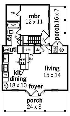 Small Hunting Cabin Floor Plans. Compact...and Spacious? Upper floor is suppose to have two bedrooms with bath. I would make it one big bunk area and community room instead.