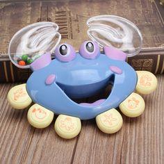 Niños recién nacidos del bebé pequeño cangrejo plástico anillo de juguete canción publicitaria desarrollo educativo agitación de campanas sonajero