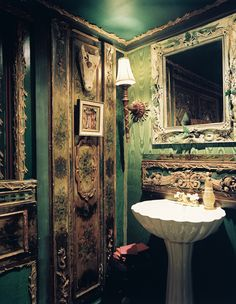 Vintage green #bathroom #bathroomcolors