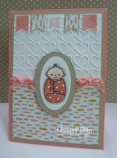 STAMPIN' UP! BUNDLED BABY SWEET DREAMS GIRL CARD