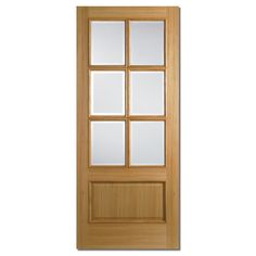 LPD Doors Oak Glazed Internal Door  sc 1 st  Pinterest & Wickes Geneva Internal Cottage Oak Veneer Door Glazed 5 Panel 1981 ... pezcame.com