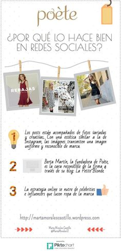 #Infografía: ¿Por qué la firma de moda Poète lo hace bien en redes sociales? #moda #ropa #marketing #socialmedia