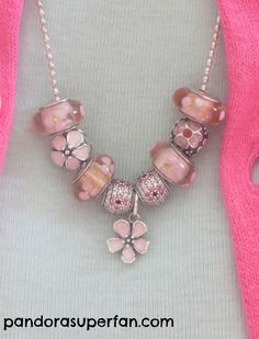 How I am wearing my Pandora cherry blossom collection at the moment - Pandora Superfan