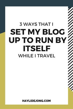 It's hard to run your own business, or even to have a blog that you run by yourself. I'm sure that some of you are worried that if you leave for a few days to take a vacation, or even if you get sick, that it will fall apart and stop getting shared or stop making you money. Here are 3 tools that I use for my blog so that I can still look like I am being productive and active on social media while I travel- bonus ideas on how you can still bring in money while travelling