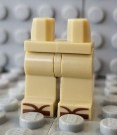 LEGO Tan Hips and Legs Brown Sandals Ninjago Master Wu Minifigure 71019 #LEGO