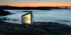 Dette er en av seks såaklte studioer som den bergensbaserte kanadiske arkitekten Todd saunders har skapt på kysten av Newfoundland. © FOTO: Bent René Synnevåg