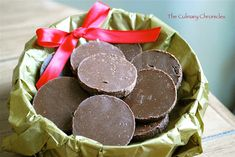 peppermint crisps #recipe: sugar, water, peppermint extract, chocolate, coconut