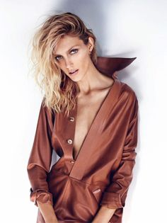 Publication: Elle UK July 2015 Model: Anja Rubik Photographer: Marcin Tyszka Fashion Editor: Grace Cobb