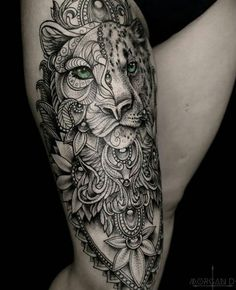 38 Neue Ideen Tattoo Mandala Animal Lion The post 38 Neue Ideen Tattoo Mandala Animal Lion appeared first on tätowierung. Tattoo Bein, Leo Tattoos, Forearm Tattoos, Body Art Tattoos, Tiger Thigh Tattoo, Tattoo Arm, Dragon Tattoos, Animal Mandala Tattoo, Mandala Tattoo Sleeve