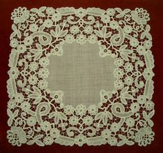 Belgian Tape Lace Needle Lace, Bobbin Lace, Types Of Lace, Art Du Fil, Antique Sewing Machines, Lacemaking, Point Lace, Linens And Lace, Irish Lace