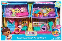 Doc McStuffins Deluxe Clinic & Pet Vet House - Girls/Pink (maybe for bday?)