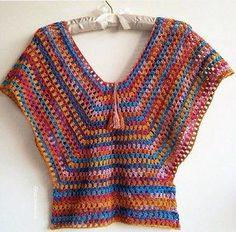 Fabulous Crochet a Little Black Crochet Dress Ideas. Georgeous Crochet a Little Black Crochet Dress Ideas. Pull Crochet, Gilet Crochet, Crochet Jacket, Crochet Cardigan, Crochet Granny, Crochet Shawl, Knit Crochet, Crochet Summer Tops, Crochet Tops