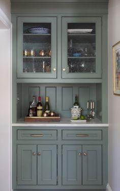Kitchen Renovation Reveal (elements of style) Kitchen Dresser, Kitchen Cabinet Colors, Kitchen Cabinetry, Kitchen Colors, Kitchen Design, Bar Cabinets, Family Kitchen, Kitchen Nook, Kitchen And Bath