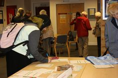 Members arriving for our talk by the Hospital Chaplaincy in February