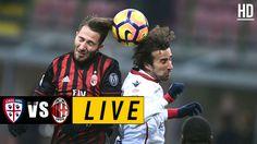 Cagliari vs AC Milan LIVE – May 28, 2017 Watch Football, Football Match, Italian League, Match Highlights, Ac Milan, Soccer Ball, Baseball Cards, Sports, Books