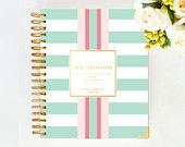 January 2015 DAY DESIGNER - Mint Rugby - Yearly Planner & Daily Agenda, Calendar, Organizer by Whitney English