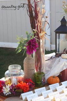 Rustic Wedding Décor/ Fall Wedding Décor by Country Girl Collections