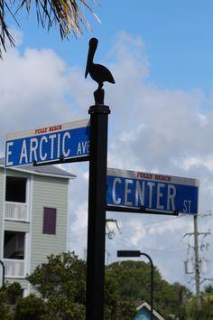 Folly Beach st. signs the edge of America