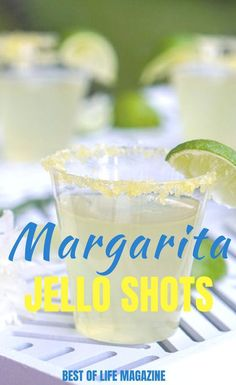 Enjoy margarita jello shots during your next party and take your party to the next level of fun with this twist on a classic cocktail. Classic Cocktails, Fun Cocktails, Summer Drinks, Cocktail Drinks, Fun Drinks, Beverages, Holiday Drinks, Summer Food, Margarita Jello Shots