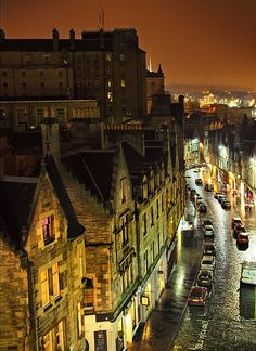 Magic Scottish Nights, Edinburgh,Scotland ~looks like in witches times, it's lovely...