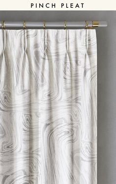 Drapery : Crystalline© // Grey  | By Bree Schaap // drop it MODERN© Design House // marble print // marble wallpaper // marble drapery // curtains // drapes // window treatments // Hygge style