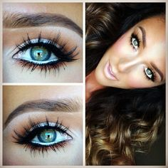 White eyeliner helps to make your eyes too look bigger and brighten your face when you use it on your water line.
