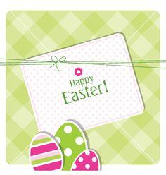 Easter card vector on VectorStock®