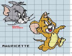 Tom e Jerry Lilo E Stitch, Stitch Cartoon, Polly Pocket, Looney Tunes, Harry Potter 2, Baby Knitting Patterns, Crochet Patterns, Tom Et Jerry, Robin Hood