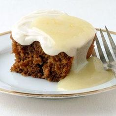 Gingerbread Cake with Cream Cheese Frosting | MyRecipes.com Luscious Cakes Under 250 Calories