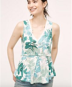 Amalia Peplum Tank - Anthropologie -  http://www.anthropologie.com/anthro/product/shopsale-clothing/4112346823879.jsp?color=038#/
