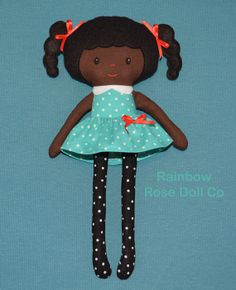 Rag Doll Pattern Cloth Doll PDF Nia aka by rainbowrosedollco, $12.00
