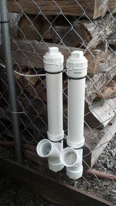 Oyster Shell & Grit Feeders for Chickens :)