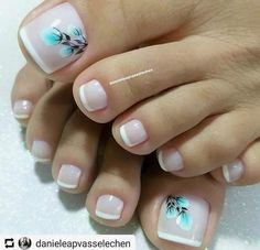 Trendy French Pedicure Novelties of French Design Pedicure, Trends&Photo Ideas Pedicure Nail Designs, Pedicure Nail Art, Toe Nail Designs, Manicure And Pedicure, Pretty Toe Nails, Cute Toe Nails, Love Nails, Toe Nail Color, Toe Nail Art