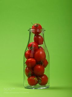 Fresh cherry tomatoes in glass bottle by 2getpaid4things  IFTTT 500px