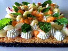 #Torta MeMePe - #Menta #Melone e #Pesca  da un'idea di Christophe #Michalak!! LA #RICETTA LA TROVATE SU ROSAPOMPELMO.IT // MeMePe #cake - #mint #melon and #peach  based on a recipe of Christophe Michalak! FOLLOW US ON ROSAPOMPELMO.IT FOR THE COMPLETE #RECIPE!  #pasticceria #marmelade #dessert #patisserie #tart #recette #foodblog #blog #italianfood #instafood #foodnetwork #easy #yummy #pastry #gateau #fantastik #pêche #melon #menthe