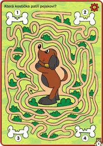 Pes a kosti- bludiště Fall Preschool Activities, Animal Activities, Learning Activities, Mickey Coloring Pages, Coloring For Kids, Mazes For Kids, File Folder Activities, Dog Crafts, Activity Sheets