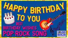 Happy Birthday Instrumental, Happy Birthday Song Lyrics, Happy Birthday Song Youtube, Singing Birthday Cards, Birthday Wishes Songs, Birthday Wishes For Friend, Happy Birthday Video, Happy Birthday Greeting Card, Happy Birthday Young Man