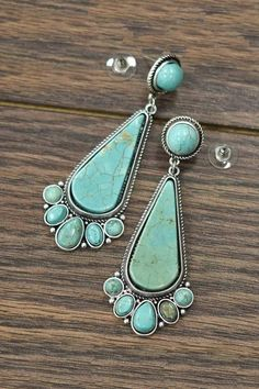 Handmade Jewellry Coral Silver Plated 24 Grams Earring 2.5 Blue Turquoise Nepali Work